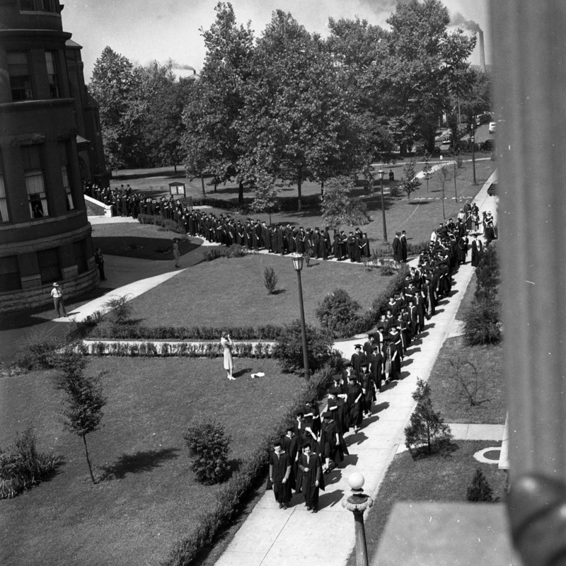 Graduation procession, circa 1941