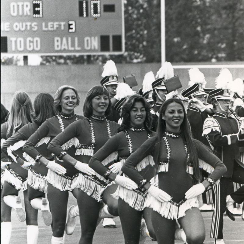 Sparkettes perform with band, no date