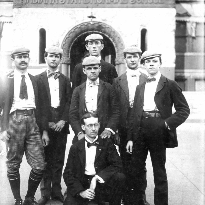 Male students at the turn of the twentieth century.