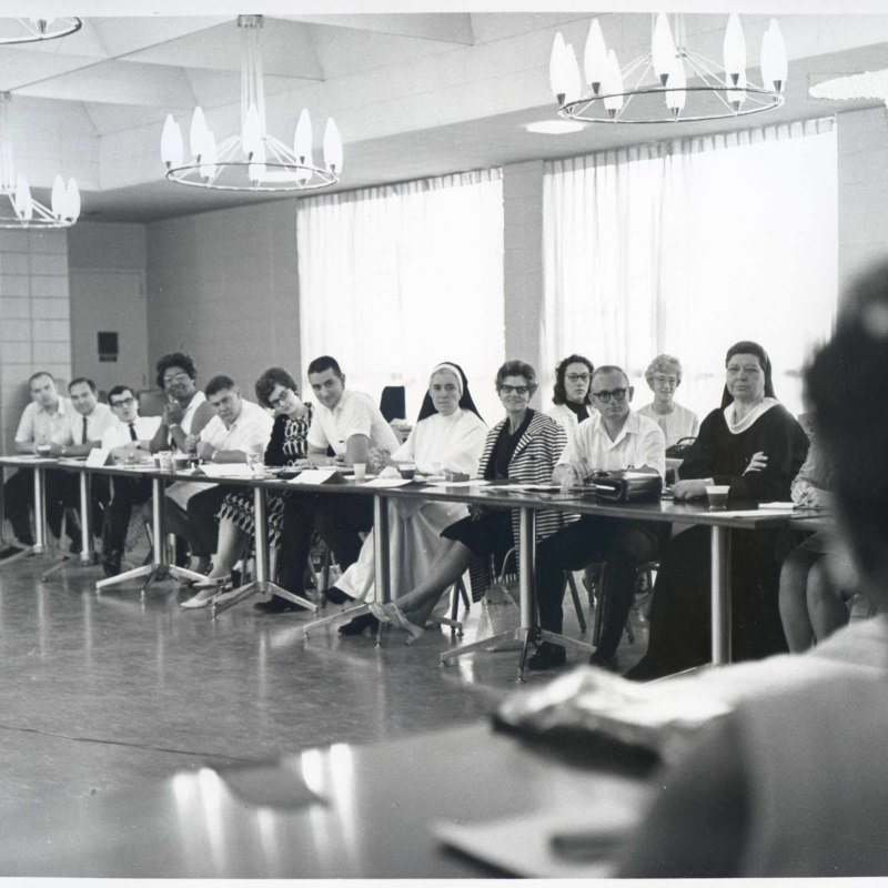 Attendees of a family finance workshop