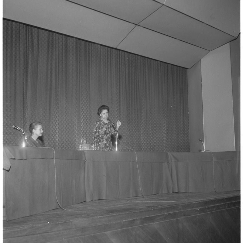 Women's day speaker and panel, 1964