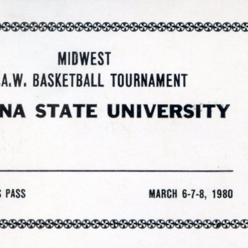 ISU Basketball tournament ticket