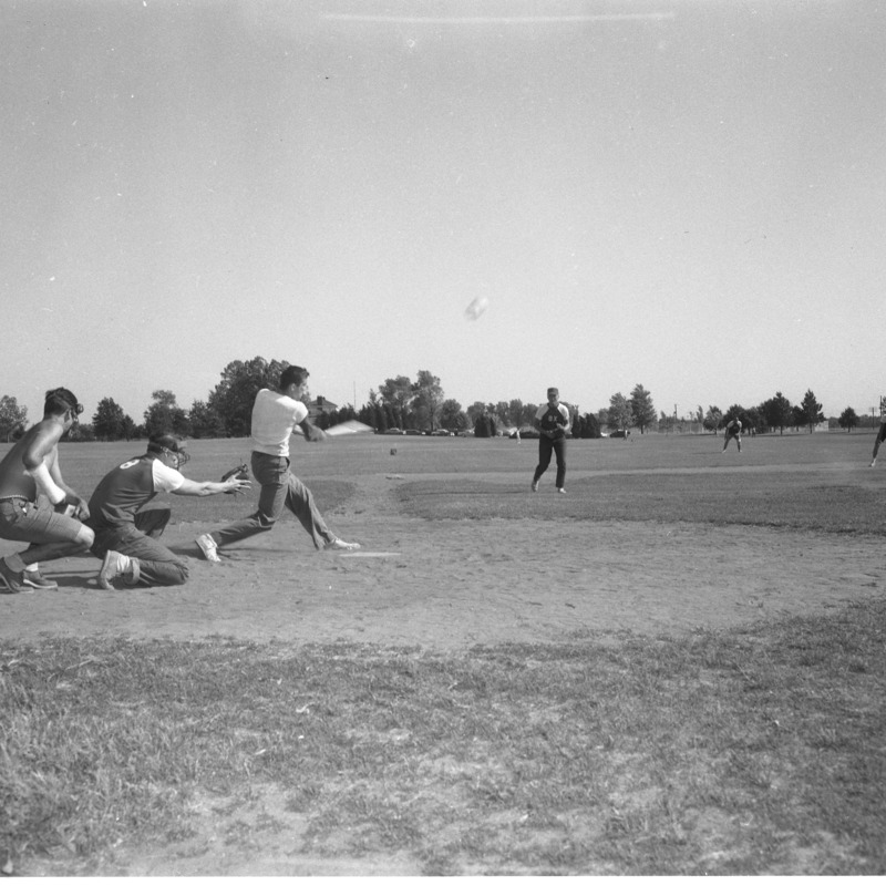 Softball game between fraternities, 1962