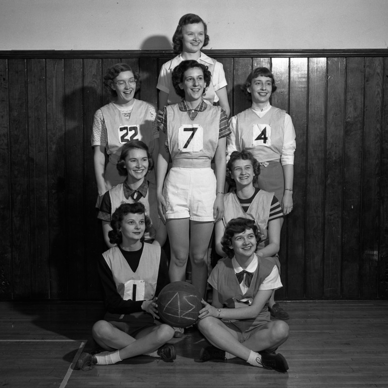 Women's Athletic Association basketball team, 1951
