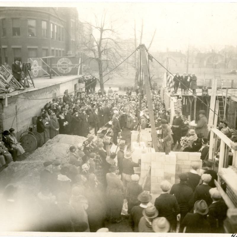 Cornerstone ceremony for the Women's Residence Hall, later Reeve Hall