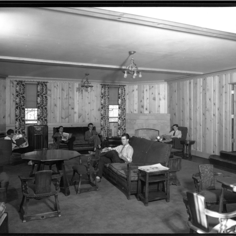 Students in Parsons Hall lounge