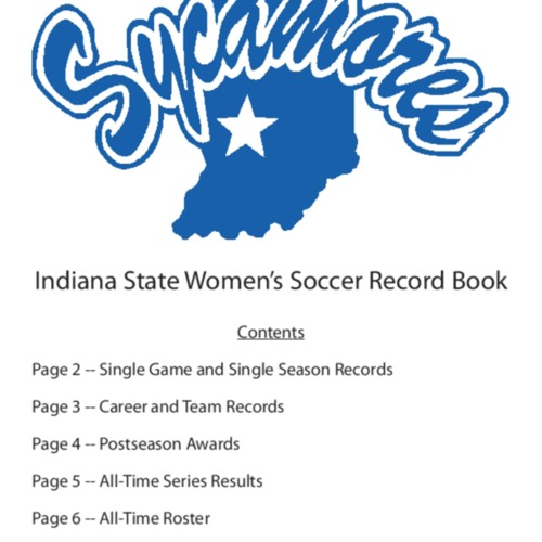 Soccer Record Book