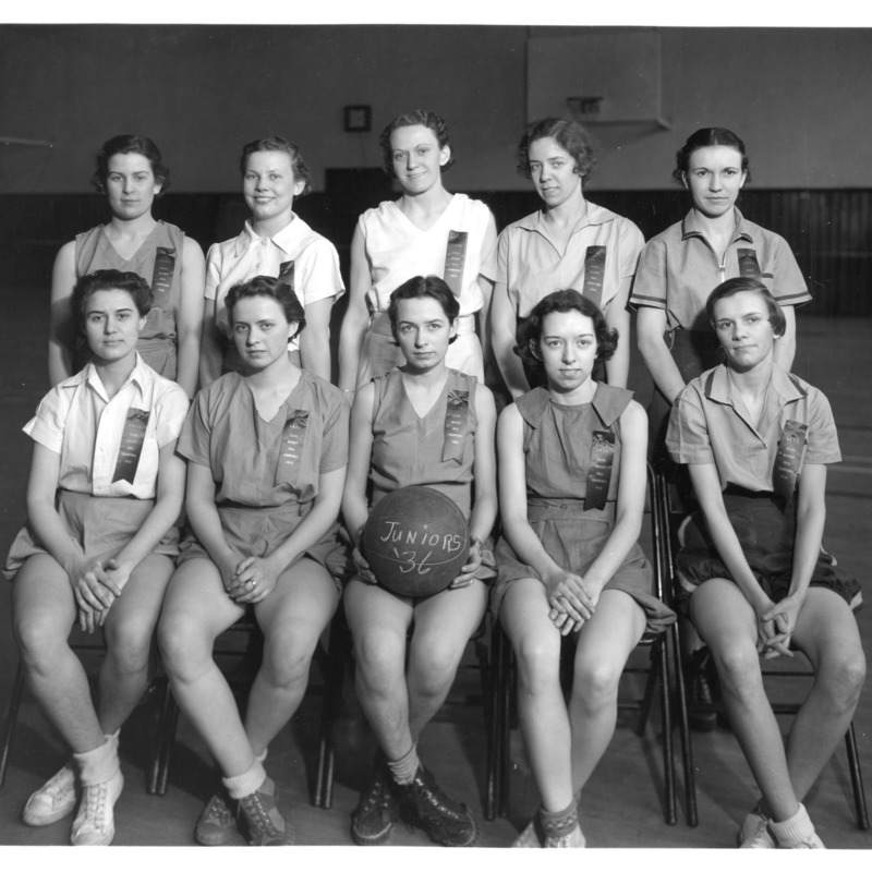 Women's Athletic Association basketball team, 1936