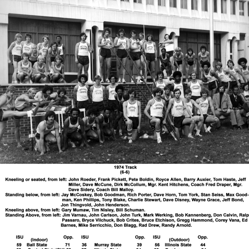 Men's track and field team, 1974