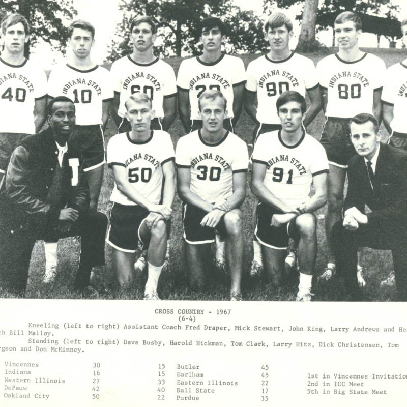 Men's cross country team, 1967