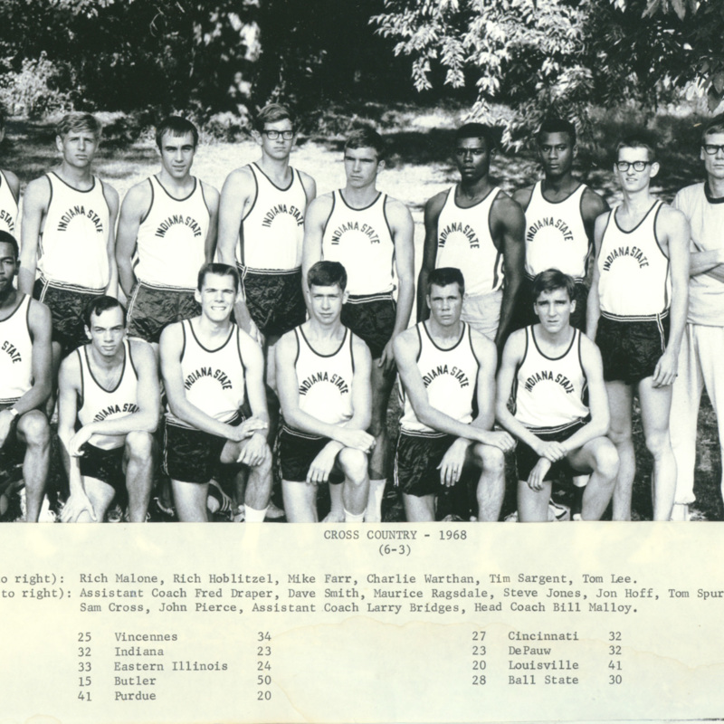 Men's cross country team, 1968