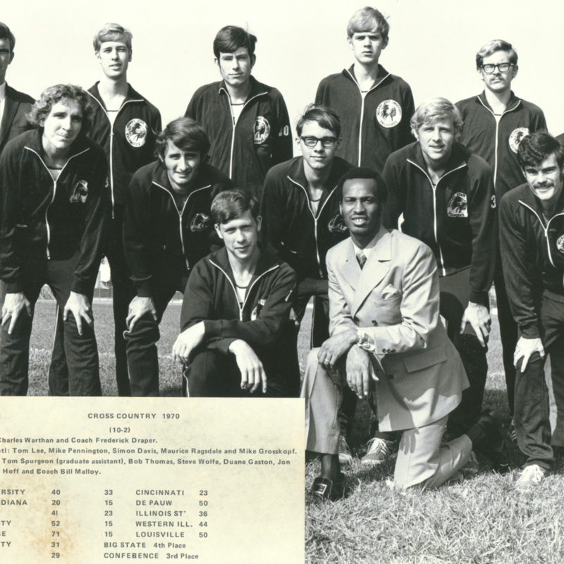 Men's cross country team, 1970