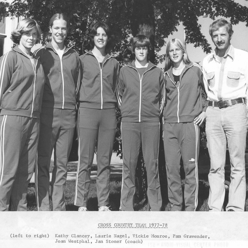 Women's cross country team, 1977-1978