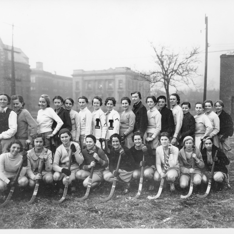 Women's Athletic Association field hockey team, 1933