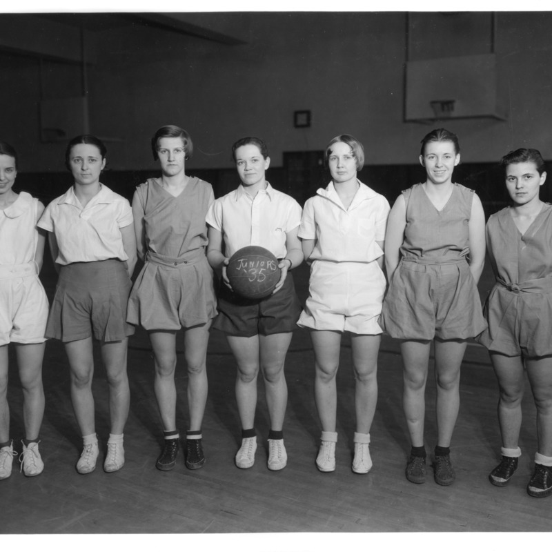 Women's Athletic Association Junior Basketball team, 1936